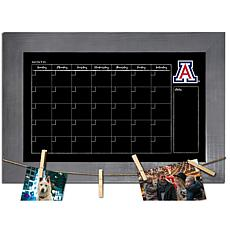 Officially Licensed NCAA Arizona Monthly Chalkboard w/ Clothespins