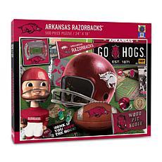 Officially Licensed NCAA Arkansas Razorbacks Retro 500-Piece Puzzle