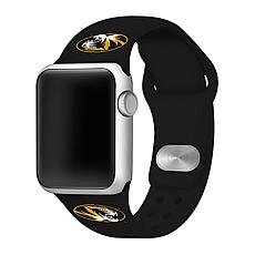Officially Licensed NCAA Black 38/40MM Apple Watch Band - MO Tigers