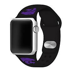 Officially Licensed NCAA Black 38/40MM Apple Watch Band-  Kansas State