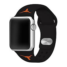 Officially Licensed NCAA Black 42/44MM Apple Watch Band - TX Longhorns