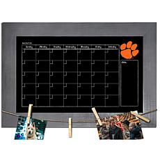 Officially Licensed NCAA Clemson Monthly Chalkboard w/ Clothespins