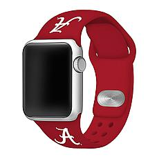 Officially Licensed NCAA Crimson 38/40MM Apple Watch Band - Alabama