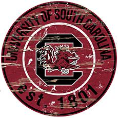 Officially Licensed NCAA  Distressed Round Sign-Un. of South Carolina