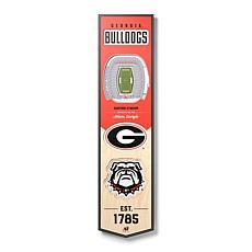 Officially Licensed NCAA Georgia Bulldogs 3D Stadium Banner