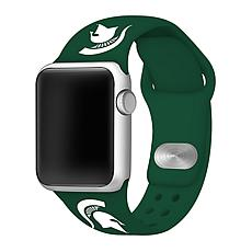 Officially Licensed NCAA Green 38/40MM Apple Watch Band - MI State