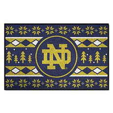 Officially Licensed NCAA Holiday Sweater Mat - Notre Dame