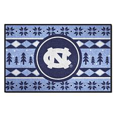 Officially Licensed NCAA Holiday Sweater Mat - UNC Chapel Hill