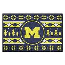 Officially Licensed NCAA Holiday Sweater Mat - University of Michigan