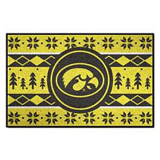 Officially Licensed NCAA Holiday Sweater Mat - University of Iowa