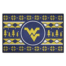 Officially Licensed NCAA Holiday Sweater Mat- West Virginia University