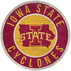 "Officially Licensed NCAA Iowa State 12"" Wood Circle"