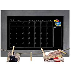 Officially Licensed NCAA Kansas Monthly Chalkboard w/ Clothespins