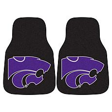 Officially Licensed NCAA Kansas State Carpet Car Mat 2-Piece Set
