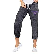 Officially Licensed NCAA Ladies Knit Capri Pant - Washington Football
