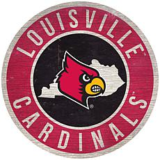 """Officially Licensed NCAA Louisville 12"""" Wood Circle"""