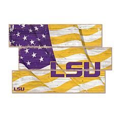 Officially Licensed NCAA LSU Three Plank Flag