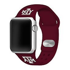 Officially Licensed NCAA Maroon 42/44MM Apple Watch Band - Texas A&M