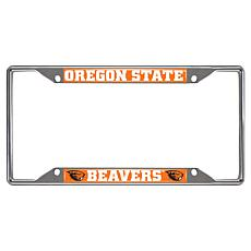 Officially Licensed NCAA Metal License Plate Frame - Oregon State Un.