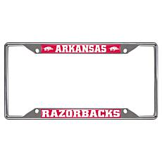 Officially Licensed NCAA Metal License Plate Frame - Un. of Arkansas