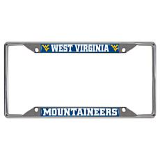 Officially Licensed NCAA Metal License Plate Frame - West Virginia Un.