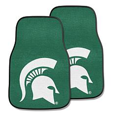 Officially Licensed NCAA Michigan State Carpet Car Mat 2-Piece Set