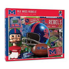 Officially Licensed NCAA Mississippi Rebels Retro 500-Piece Puzzle