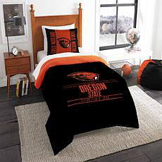 Officially Licensed NCAA Modern Take Twin Comforter Set - Oregon State