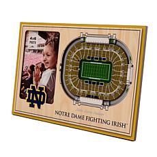 Officially Licensed NCAA Notre Dame 3-D StadiumViews Picture Frame