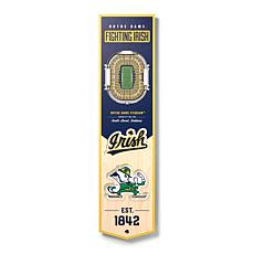 Officially Licensed NCAA Notre Dame Fighting Irish 3D Stadium Banner