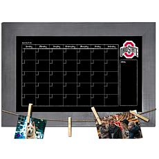 Officially Licensed NCAA Ohio State Monthly Chalkboard w/ Clothespins