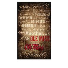 Officially Licensed NCAA Our Family Canvas