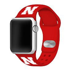 Officially Licensed NCAA Red 42/44MM Apple Watch Band - NE Huskers