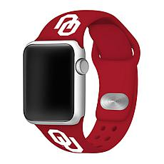 Officially Licensed NCAA Red 42/44MM Apple Watch Band - OK Sooners