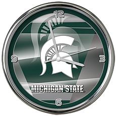 Officially Licensed NCAA Shadow Chrome Clock - Michigan State