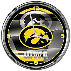 Officially Licensed NCAA Shadow Chrome Clock - University of Iowa