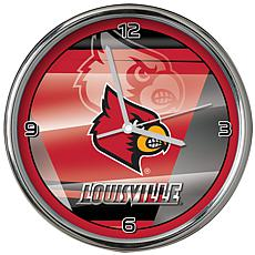 Officially Licensed NCAA Shadow Chrome Clock- University of Louisville