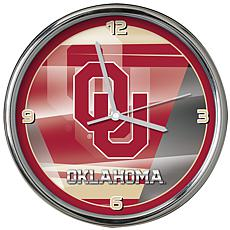 Officially Licensed NCAA Shadow Chrome Clock - University of Oklahoma