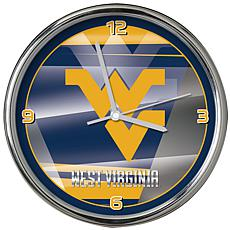 Officially Licensed NCAA Shadow Chrome Clock - West Virginia