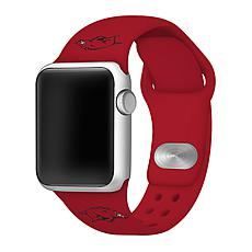 Officially Licensed NCAA Silicone Apple Watch Band - Arkansas - Red