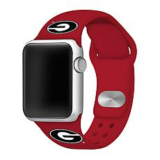 Officially Licensed NCAA Silicone Apple Watch Band - Georgia - Red