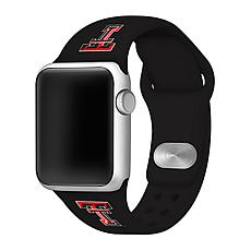 Officially Licensed NCAA Silicone Apple Watch Band - Texas Tech-Black