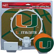Officially Licensed NCAA Slam Dunk Softee Hoop Set - Miami