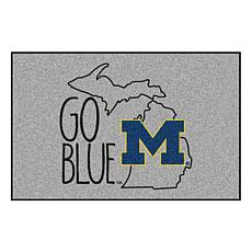 Officially Licensed NCAA Southern Style Rug - University of Michigan