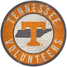 """Officially Licensed NCAA Tennessee 12"""" Wood Circle"""