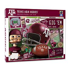 Officially Licensed NCAA Texas A&M Aggies Retro 500-Piece Puzzle