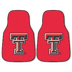 Officially Licensed NCAA Texas Tech University Carpet Car Mat 2-Pc Set