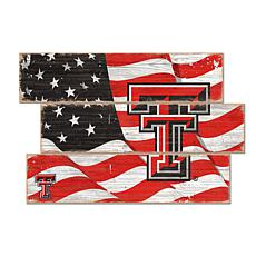 Officially Licensed NCAA Texas Tech University Three Plank Flag