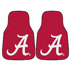 Officially Licensed NCAA University of Alabama Carpet Car Mat 2-Pc Set