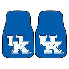 Officially Licensed NCAA University of Kentucky Carpet Car Mat 2Pc Set